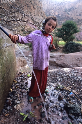 Potable water source in village of Taghia.