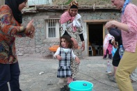 Washing hands during the health awareness day in Taghia.