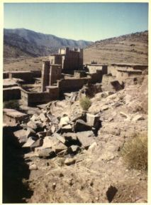 The sheikh's saint house compound in the village of Aguddim.