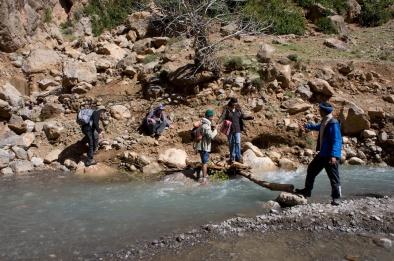 Crossing the Ahansal River.
