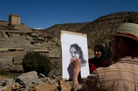 A portrait in the village of Amezray.