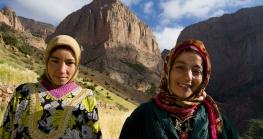 Berber women in the wheat fields.